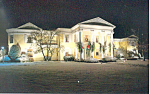 Oglebay, WV Mansion,Festival Lights Postcard