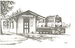 Maryland Midland Railway Station,Walkersville Postcard