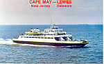Cape May  NJ  Ferry Postcard p16649