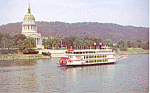 MV West Virginia Belle Steam Boat   Postcard p16670