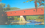 Click here to enlarge image and see more about item p16679: Covered Bridge, Connecticut  Postcard
