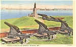 Baltimore MD Ft McHenry Postcard p1668