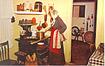 Kitchen Village Hall Museum Lindenhurst NY  Postcard p16704