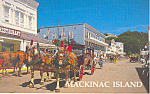Main Street,Mackinac Island,Michigan  Postcard