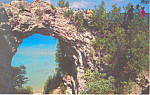 Arch Rock,Mackinac Island,Michigan  Postcard