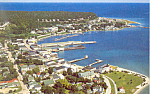 Harbor, Mackinac Island,Michigan  Postcard