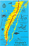 Map of Virginia's Eastern Shore Postcard
