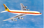 Continental Airlines Issued  Postcard Boeing 707