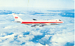 TWA Issued  Postcard Boeing 747 p16736
