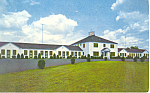 Oak Motor Court Motel Manchester CT Postcard p16767