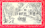 American Homestead Winter Christmas Postcard