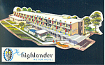 Click here to enlarge image and see more about item p16782: Highlander Motel, Alberta, Canada  Postcard