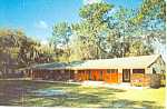Whispering Pines Motel  Starke Florida Postcard p16784