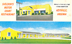Sheldon s Motel   Keysville Virginia Postcard p16797