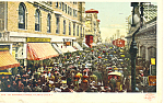 Boardwalk Parade,Atlantic City NJ Detroit Pub.Postcard