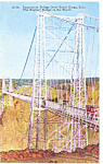 Click here to enlarge image and see more about item p16837: Royal Gorge Bridge Colorado Postcard p16837