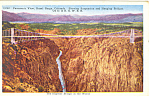 Panoramic View Royal Gorge , Colorado Postcard