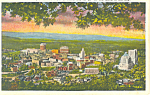 Asheville NC Sunset View Postcard p16851