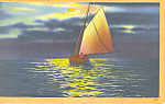 Sailing Under the Silvery Moon Postcard p16906