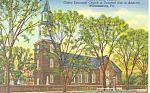 Bruton Parish Church, Williamsburg, VA Postcard 1952