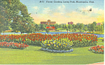 Click here to enlarge image and see more about item p16914: Loring Park Minneapolis MN Postcard p16914 1953