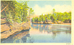 The Narrows, Wisconsin Dells, WI Postcard 1953