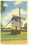 Windmill Greenfield Village Dearborn MI Postcard p16918 1953