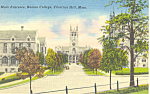 Entrance, Boston College, Chestnut Hill, MA Postcard