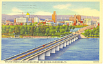 Skyline and Bridges Harrisburg PA Postcard p16941