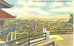 Bird's Eye View of, Reading,PA Postcard