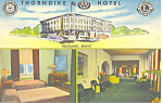 Thorndike Hotel Rockland Maine Postcard p16975