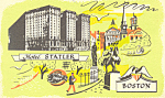 Hotel Statler  Boston  Massachusetts Postcard p16981