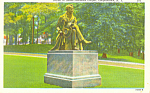 Statue of James Cooper Cooperstown New York Postcard p16990