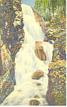 Cascade at Flume, Franconia Notch, NH  Postcard 1939