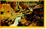 Click here to enlarge image and see more about item p17035: Falls Ammonoosuc Bretton Woods NH Postcard p17035