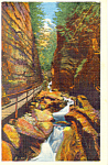 The Flume Franconia Notch NH Postcard p17059