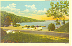 Lake Sunapee from Newbury,NH Postcard 1954