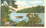Cliff Island, Newfound Lake, NH   Postcard 1932
