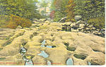 Rock Formation, North Woodstock, NH   Postcard 1914