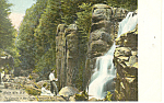 Cascade in Flume Franconia Notch NH   Postcard p17117
