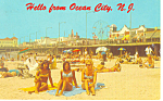 Hello From Ocean City, NJ  Postcard 1971