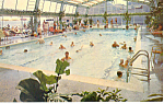 Chalfonte Haddon Hall Pool Atlantic City NJ  Postcard p17150