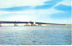 Coastal Bridge Stone Harbor NJ  Postcard p17154 1961