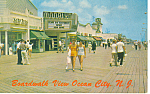 Boardwalk View,Ocean City, NJ  Postcard 1965