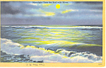Moonlight Tints Surf, Cape May, NJ  Postcard 1955