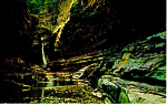 Click here to enlarge image and see more about item p17177: Central Cascade, Watkins Glen State Park, NY  Postcard
