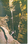 Click here to enlarge image and see more about item p17180: Cavern Cascade Watkins Glen  NY  Postcard p17180