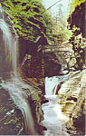 Click here to enlarge image and see more about item p17182: Rainbow Falls, Watkins Glen  NY  Postcard