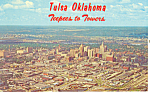 Click here to enlarge image and see more about item p17209: Teepees to Towers Tulsa OK Postcard p17209