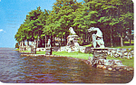 Cherry Island Thousand Islands  NY  Postcard p17241 1957